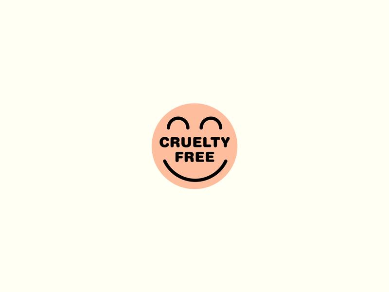 Smile :D illustration salmon happy face smiley face smile line vector label vegan symbol logo color brand cruelty. free cruelty free cruelty-free