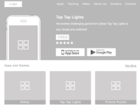 Wireframes of Homepage(Zyksa Project)