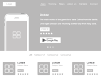 Wireframes of Applisting Page(Zyksa Project)