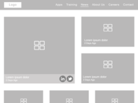 Wireframes of Newslisting Page(Zyksa Project)
