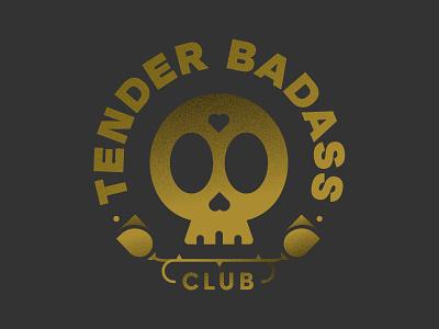 Tender Badass Club club roses screenprint skull vector tshirt badge logo badge