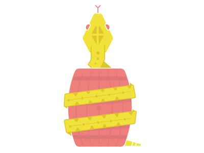 Lemonade Snake slither eyes reptile beer barrel tounge snake illustration animal food