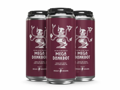 Mega Dankbot Cans package design minnesota beer can bot character robot packaging branding craft beer beer art beer