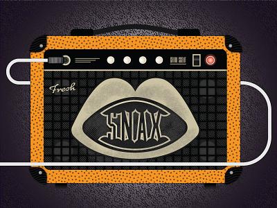 Fresh Snax amplifier guitar pick texture light snacks music amp guitar