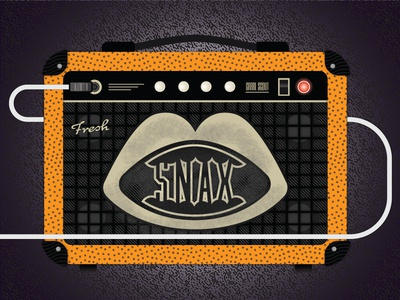 Fresh Snax amplifier guitar pick texture light snacks music amp guitar