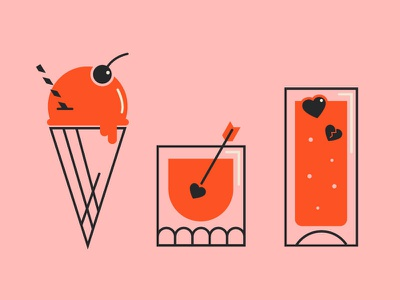 VDay Cocktails valentine day beverages craft drinks food cocktails