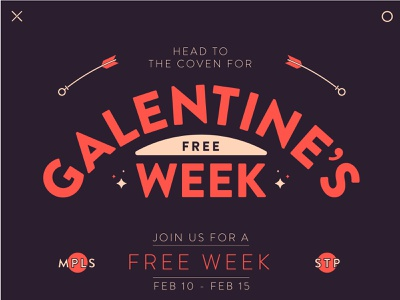 Galentine's Day arrow heart typography valentines day valentines galentines day lock-up lockup