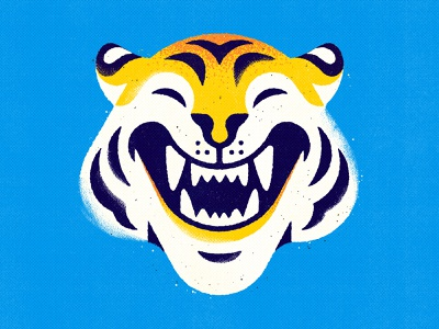 New Profile Pic character graphic texture smiling drawing tiger illustration