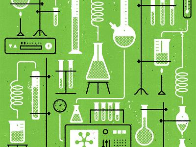 Algix spot science editorial texture illustration