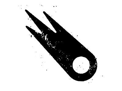 Comet space comet texture spot illustration
