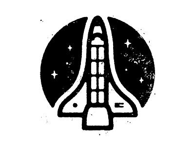 Shuttle stars space shuttle texture illustration
