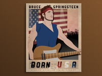 Bruce Springsteen 'Born In The USA' Vintage Poster