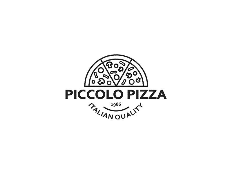 Piccolo Pizza Logo Design circle vector fastfood food italian pizza piccolo design logo
