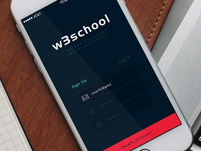 W3school app by bojan viner dribbble w3school app stopboris Images