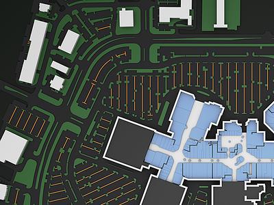 3D Map Render mall retail outdoor 3d map