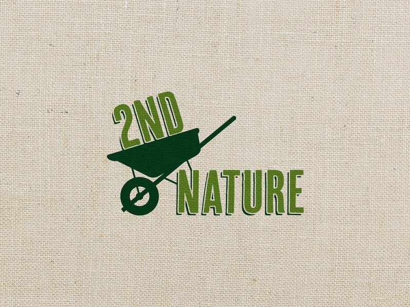 2nd Nature Logo branding logo design cary raleigh landscaping nc logo green