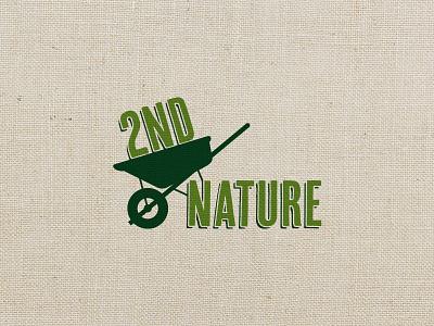 2nd Nature Logo branding logo design cary raleigh landscaping nc logo green