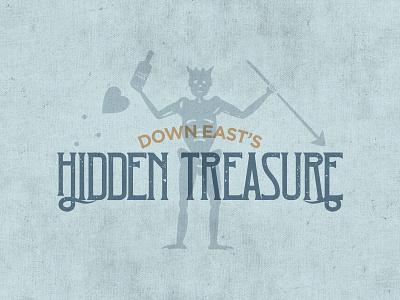 Hidden Treasure blackbeard gold blue design branding outer banks sc east coast pirate gin