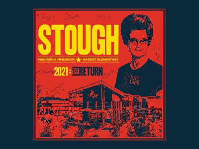 S2021:TR raleigh mandarin north carolina nc magnet yellow red blue education