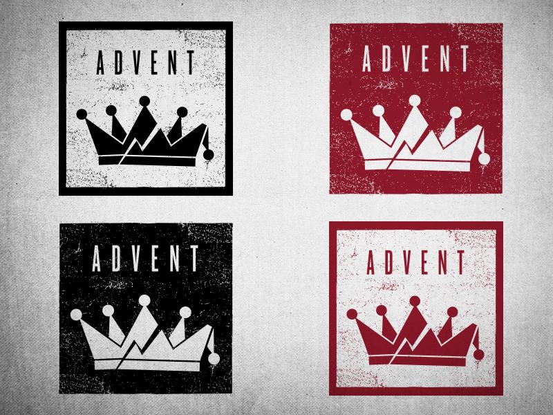 unused Advent advent calendar chapel hill durham triangle north carolina nc raleigh logo crown square black red christmas advent
