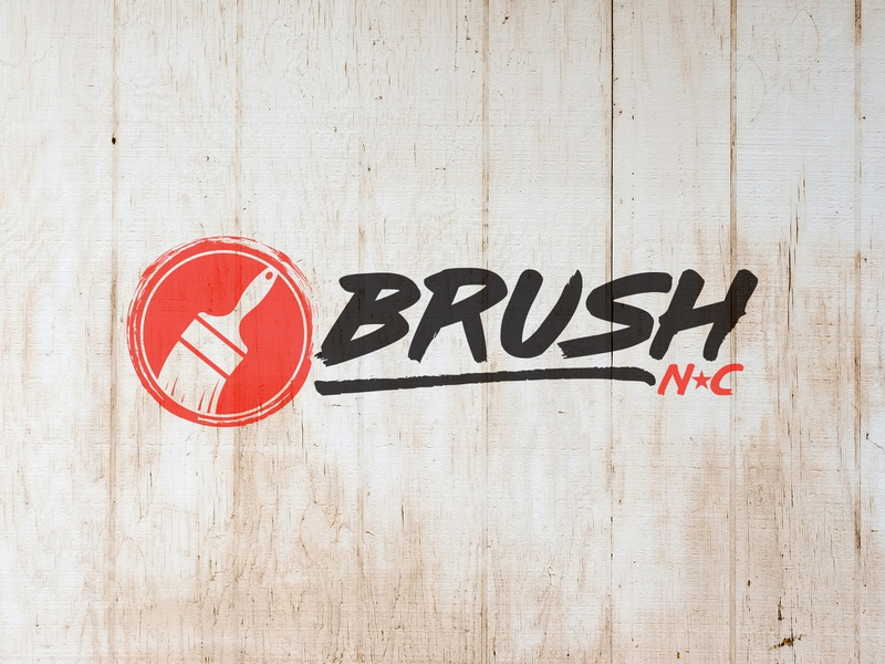 BrushNC small business black orange brush chapel hill durham raleigh nc type logo paint