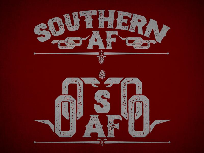 SAF2 culture south design branding pine cone grey red nc north carolina snake af southern