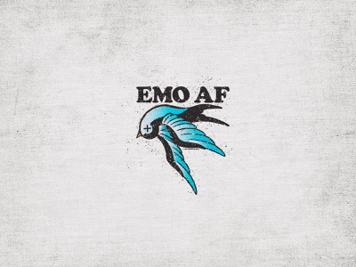 EMOAF apparel af sparrow bird emo