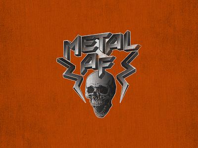 MetalAF metalcore lightning design scream metallic apparel music 80s skull metal