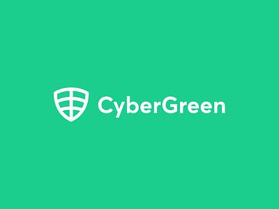 Logo for CyberGreen cyber ecosystem sustainable data hacking identity branding technology organic minimal information cyber logo