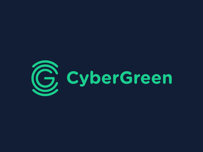 Cyber Green Logo Option II cyber ecosystem sustainable data hacking identity branding technology organic minimal information cyber logo