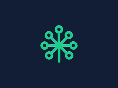 CyberGreen Logo Option III cyber ecosystem sustainable data hacking identity branding technology organic minimal information cyber logo