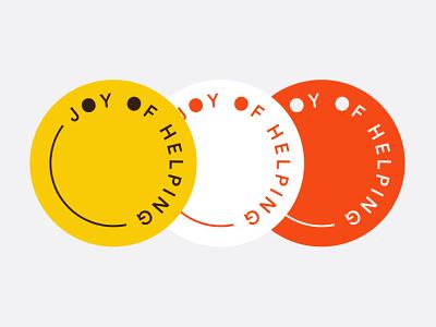 Logo Badges for an NGO - Joy of Helping nonprofit social social campaign ngo logo design community logotype inspiration logo typography branding identity minimal