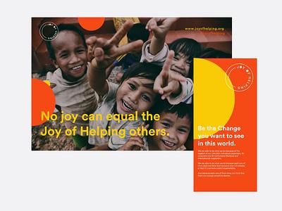 Prints for Joy of Helping nonprofit ngo social campaign photography community logo design inspiration design logo typography branding identity minimal