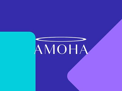 Amoha Logo illustration ui vector ux bold clean logotype inspiration logo design design logo typography identity branding minimal