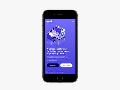 Mobile Website webdesign web app mobile ux ui illustration design inspiration typography minimal
