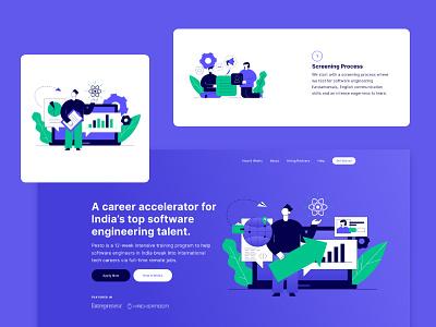 Career Accelerator Web design cards education funding startups colour palette clean web vector ui ux illustration inspiration typography minimal