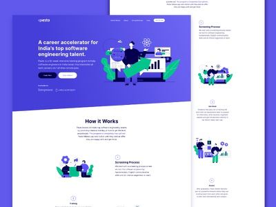 Career Accelerator Web design colours illustraion education ux web graphics community bold ui uiux vector illustration design inspiration typography identity branding minimal