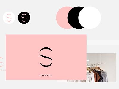 Superdrama Clothing brand clothing clear font modern fashion clean bold logotype logo design design inspiration logo typography identity branding minimal