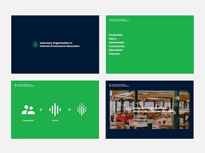 Voluntary Organisation in Interest for Consumer Education. deck design deck presentation voice community vector clean logo design inspiration design typography logo identity branding minimal