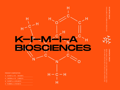 KIMIA Biosciences inspiration logotype identity typography minimal branding and identity dna biotech science and technology science healthcare health