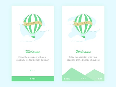 App Onboarding cloud ballon welcome website ux ui onboarding ios illustration dashboard clean android
