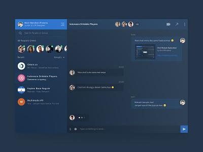 Chat Module Exploration screen inbox app website conversation chatting message dashboard module chat