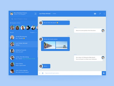 Chat Module Exploration - Light Version screen inbox app website conversation chatting message dashboard module chat