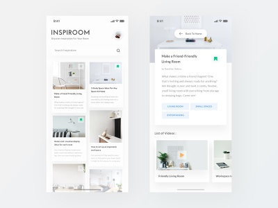 Inspiration Room App trend 2018 minimal clean gallery photo iphone x mobile web property furniture indoor interior