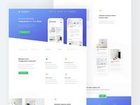 Inspiration Room App - Landing Page