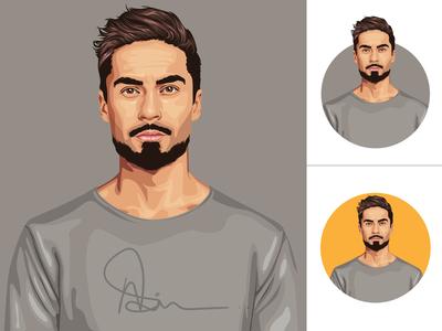 Cartoon Vector art ux ui logo branding illustration gaming logo cartoon portrait vector vector art cartoon art
