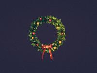 Xmas wreath 2560x1440