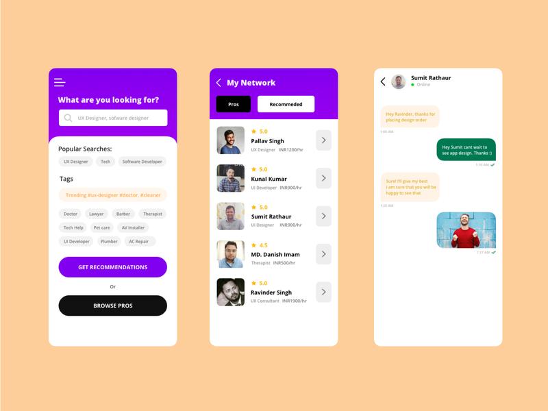 Services App designs mobile app design mobile app app ux sketch design ui