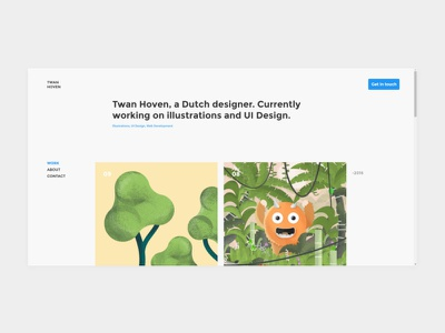 Portfolio Design website concept portfolio web chrome ux ui minimal webdesign