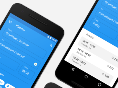 9292 Redesign for Android ux ui planner travel app android redesign material design